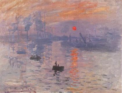 《印象.日出》 Impression,Sunrise  monet_1.jpg (20646 bytes)